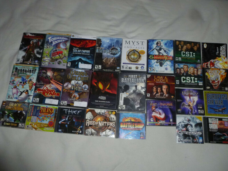 PC GAME LOT TWISTED METAL 2 DIVINE DIVINITY RISE OF NATIONS MASTER OF ORION MYST