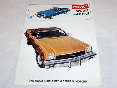 VINTAGE CAR AUTOMOBILE BROCHURE BUYERS GUIDE CATALOG GMC GM SPRINT MODELS 1973
