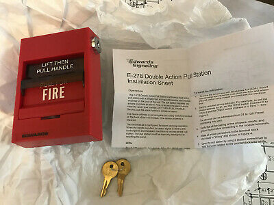 Edwards Est E-278 Dual Action Pull Station Fire Alarm New In Box