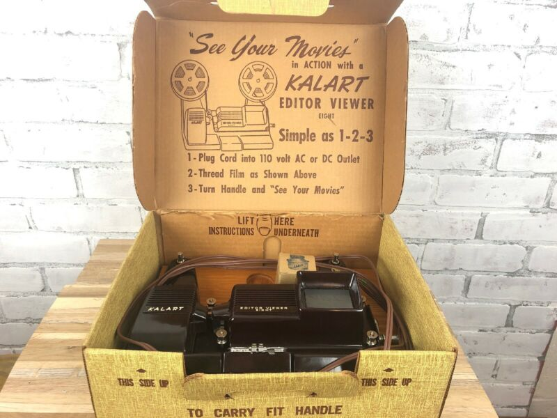 Vintage Kalart 8mm Editor Viewer Eight Splicer Working
