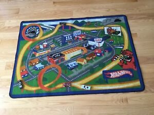 Hot wheels play mat