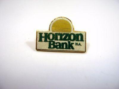 Vintage Collectible Pin  Horizon Bank Logo Sun