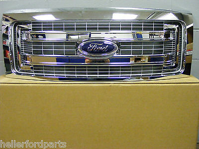 2009 2010 2011 2012 2013 2014  FORD F150 CHROME SOLID BAR FORD OEM GRILLE!!!