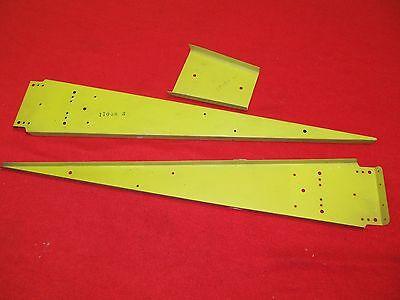 2 each Piper Apache PA-23 elevator rib cap 17058- 3 & doubler 17058-20
