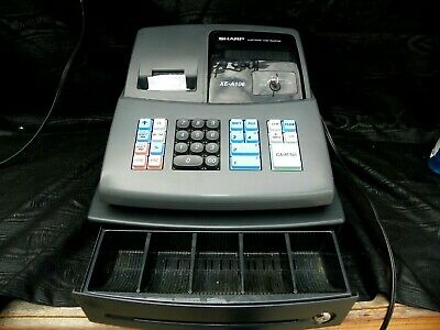 Sharp Cash Led Register Xe-a106 Used In Box With Key Instructions Works