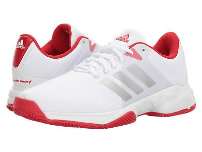 Adidas Tennis Shoe - Mens Adidas Barricade Court 3 White Sport Tennis Athletic Shoes CM7814 Size 9-13