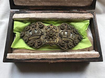 Museale Gürtelschließe aus Adelsbesitz Silber um 1800