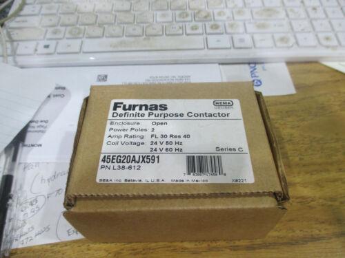 Furnas definite purpose contactor # 45EG20AJX591   PN L38-612 24VAC coil