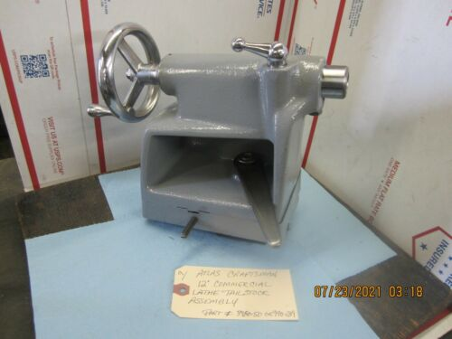 """Atlas Craftsman 12"""" Commercial Lathe Tailstock Assembly # 990-289 or 3980-50"""