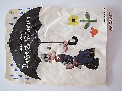 Popeye the Weatherman Colorforms Rare 1959 Vintage