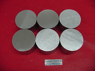6 Pieces 2 Aluminum 6061 Round Rod 1 Long T6511 2.00 New Lathe Solid Bar Stock