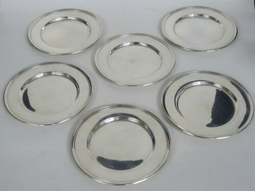 """LOT of  6 pcs WALLACE STERLING 2899 BREAD PLATE ~ 6"""" / 488g"""