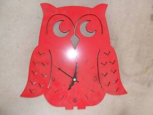 Red Owl Wall Clock Smithfield Cairns City Preview