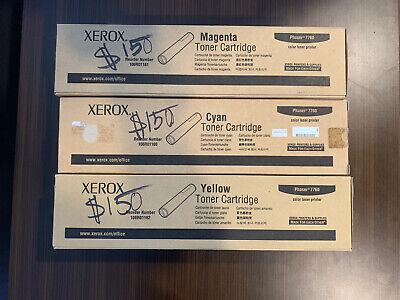 Cyan, Yellow And Magenta Xerox Phaser 7760 Toner Cartridge NEW Sealed comprar usado  Enviando para Brazil
