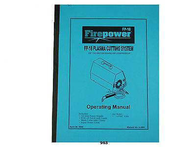 Thermal Dynamics Firepower Fp-18 Plasma Cutter Operating Manual 963