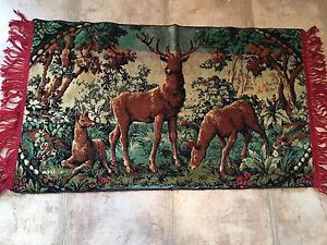Deer wall rug tapestry