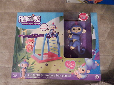 NEW 100% Authentic Fingerling Baby Monkey Bar Playset with E