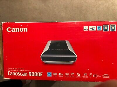 Canon 6218B002 Scanner Black and Silver model 9000F - New never opened box