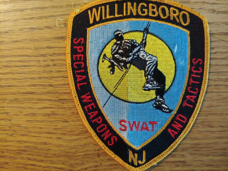 WILLINGBORO,NJ Police SWAT patch