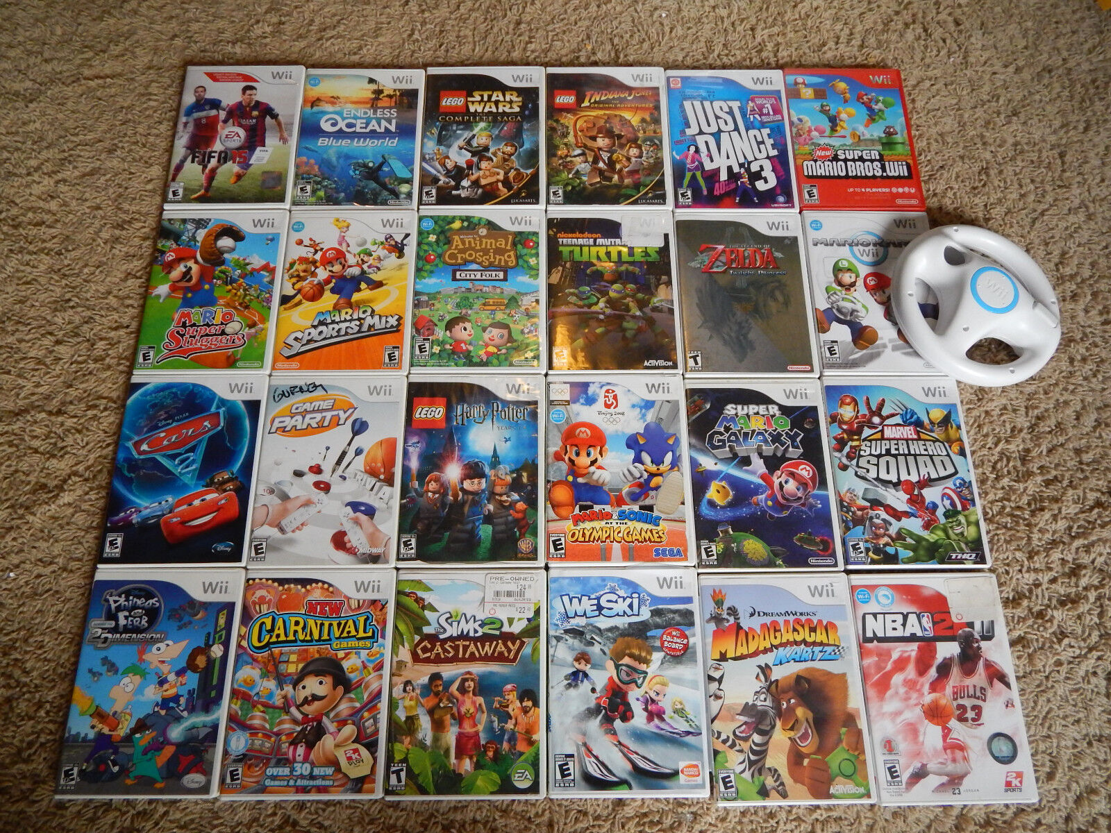 $3.95 - Nintendo Wii Games! You Choose from Large Selection! Many Titles! Mario, Zelda