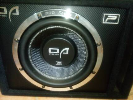 Option Audio Pro Series Subwoofer and Option Audio Oak 1200 Amp