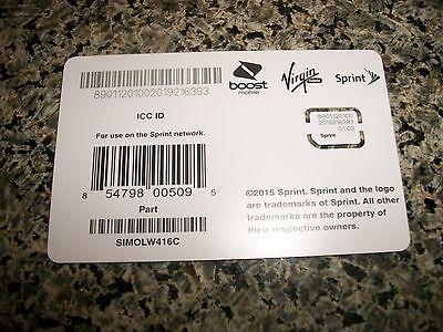 Sprint Sim Card FOR APPLE IPAD MINI 4 SPRINT BOOST VIRGIN MOBILE SIMOLW416C NEW