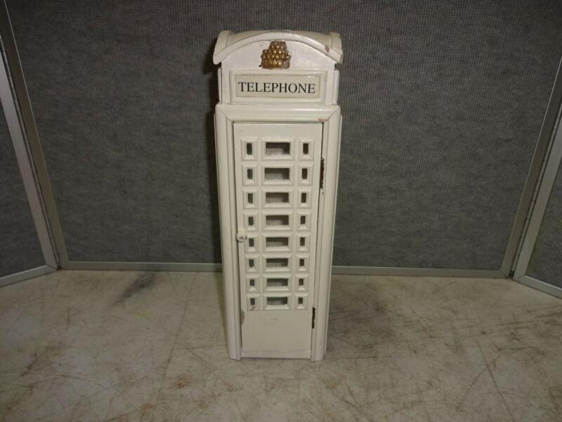British Mini Phone Booth White