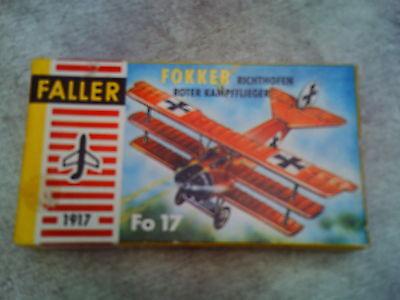 Faller 1:100 / HO  Fokker Richthofen roter Kampfflieger  Mitte der 60er Jahre