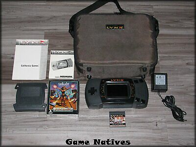 Atari Lynx II System w/2 Games/Sun Visor/Power Adapter/Carry Case