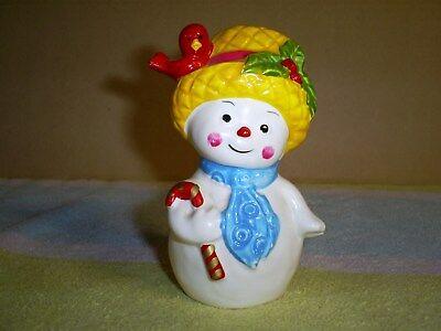 NAPCOWARE ~ Christmas / Winter ~  Mrs Snowgirl Salt Shaker only  X-8829