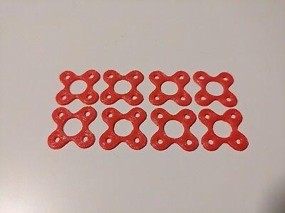 8 PCS Quadcopter 3D printed red TPU motor matt mount 22XX, 2204, 2206 motor size