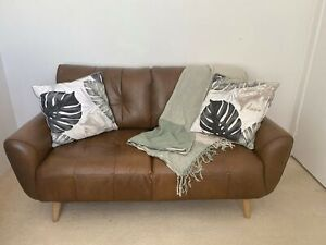 Nick Scali Natural Leather 2.5 seater lounge
