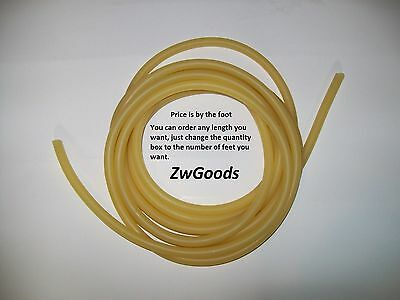 14 I.d X 332 Wall X 716 O.d Latex Rubber Tubing Amber Heavy Duty By Foot