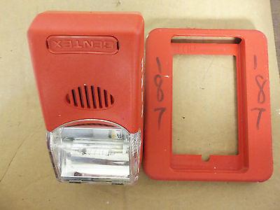 Gentex Fire Alarm Horn Strobe Hs24-1575wr Missing Screwsbackplate Paint