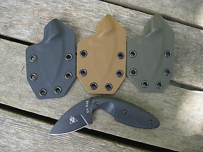 Valhalla Custom Kydex Sheath Ka-Bar TDI 1480 SMALL Kydex BLACK SHEATH ONLY 2pc for sale  Olean