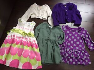 Girls size 2T dresses with sweaters