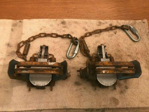 2 #2 Laminated Base Plated HD Chain & Traps Vintage Antique Mountain Men Alaskan