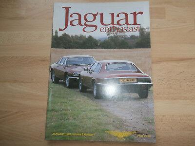 JAGUAR ENTHUSIAST 1992.Restoration help.Classified.Club news.XJS.XJ 220.SS find