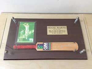 Shane Warne collectable - signed bat, mounted and framed Pacific Paradise Maroochydore Area Preview