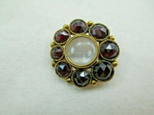 Antique Victorian 9 carat Gold Garnet Mourning Brooch Pin OPENS & CLOSES 983D