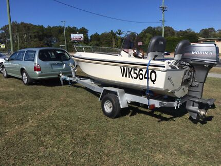 2003  $89 weekly Ford Futura Wagon  4.4M Haines Hunter 40hp Boat Burpengary Caboolture Area Preview