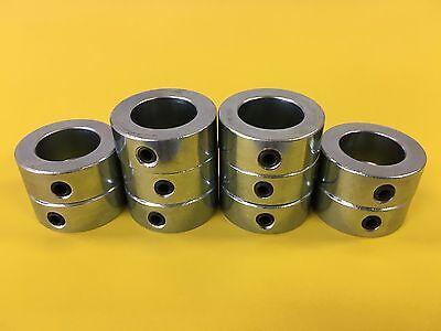 ((10pcs) 8mm Shaft Collar - Solid - Zinc Plated - Set Screw - MSC-08 Metric)
