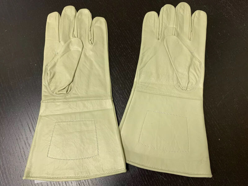 NEW BUFF Leather Gauntlet Gloves - Size Large - Excellent, Civil War, Steampunk