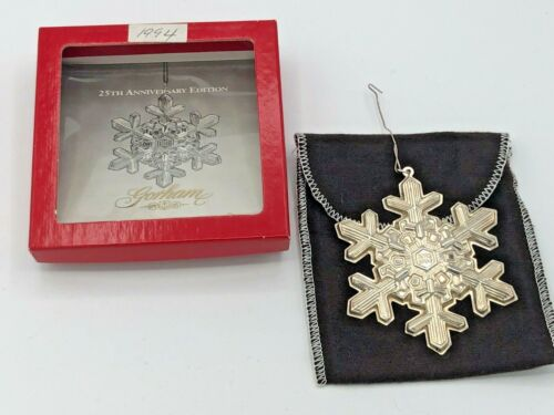 Gorham Sterling Silver 1994 Annual Snowflake Ornament, with box