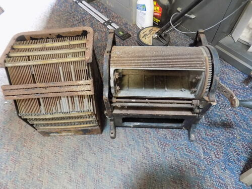 Vintage Antique American Multigraph Co. Gammeter Typeset Printer w/ Type Galley