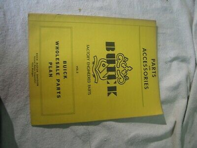 1950 buick parts and accessories wholesale parts plan dealership book manual