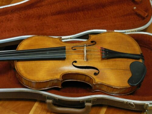 "REDUCED! Vintage Branded Jacobus Hornsteiner Violin For Repair 14"" Back 23 1/4"""