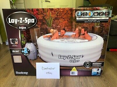 Lay-Z-Spa Vegas 4-6 Person AirJet Inflatable Hot Tub (Paris/Helsinki/St Moritz)