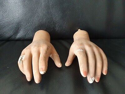 Old 1940s Right Left Child Mannequin Hand Early Ex.