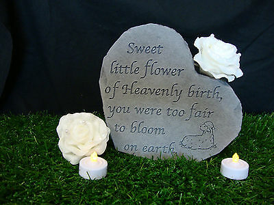 Special Heart Memorial Garden Stone Plaque Grave Child Young Loss Miscarriage